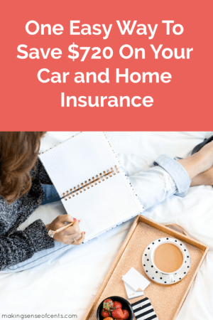 One Easy Way To Save $720 On Your Car and Home Insurance #insurance #moneysavingtips
