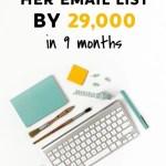 Come Susie ha cresciuto la sua Mailing List di oltre 29.000 iscritti in 9 mesi