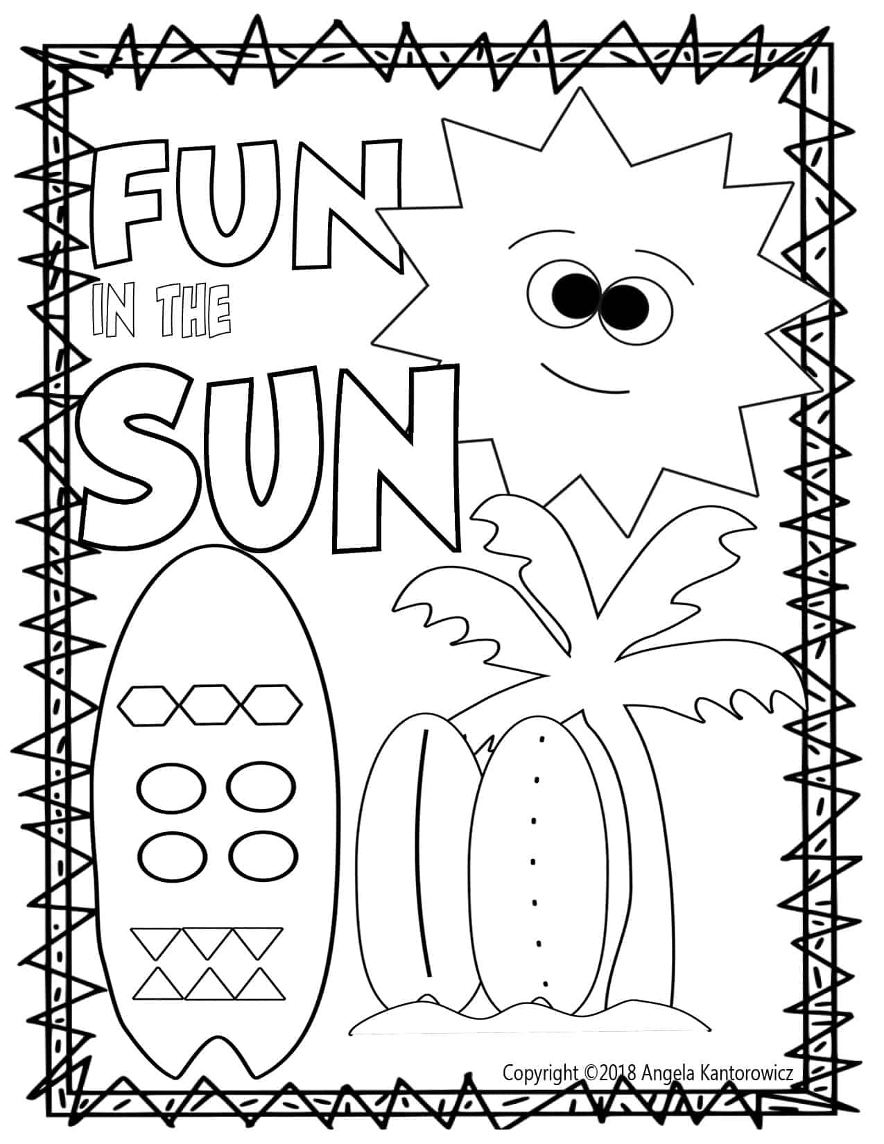 Fun In The Sun Color Sheet Making The Basics Fun