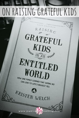 On Raising Grateful Kids