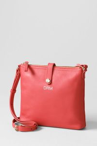 coral cross body bag