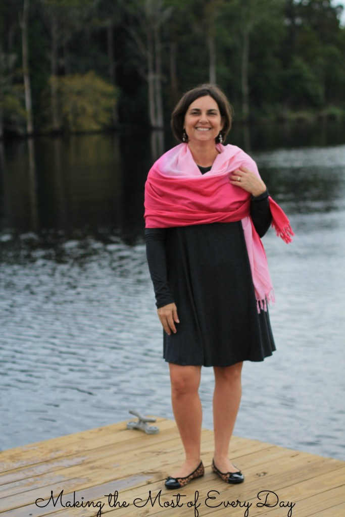 pink scarf 4 marked