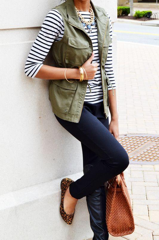 wider stripe shirt and vest