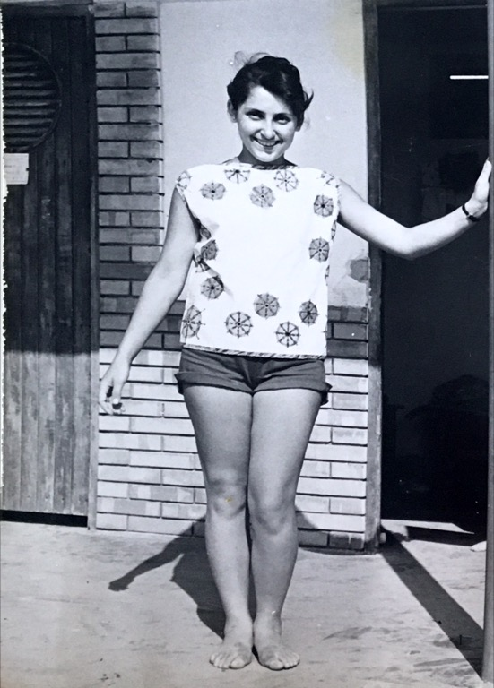 Look at those risque shorts! 1959