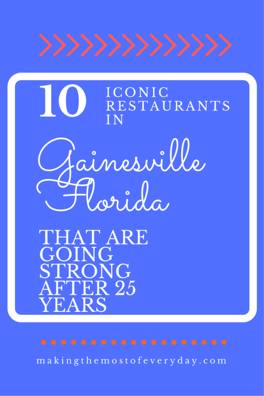 25 iconic restaurants in Gainesville