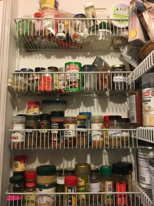messy left side of pantry