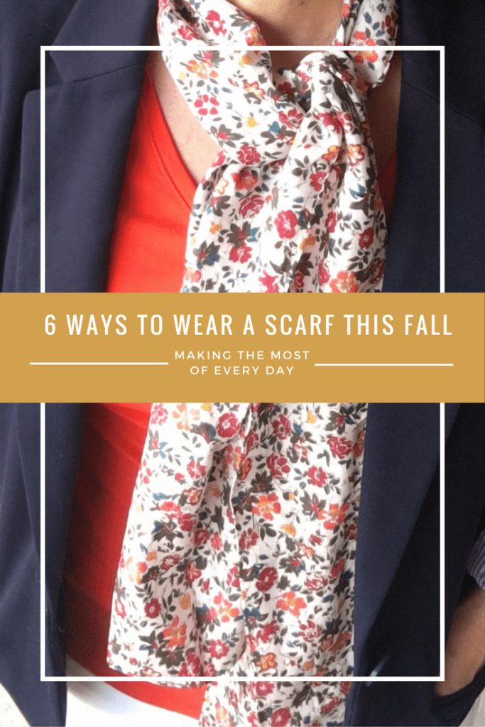 With just a few swaps, you can change the look of how you wear your fall scarves!