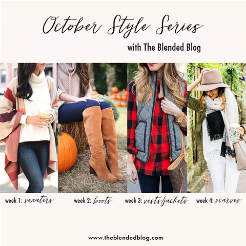 How to Style Fall Scarves on Making the Most of Every Day blog
