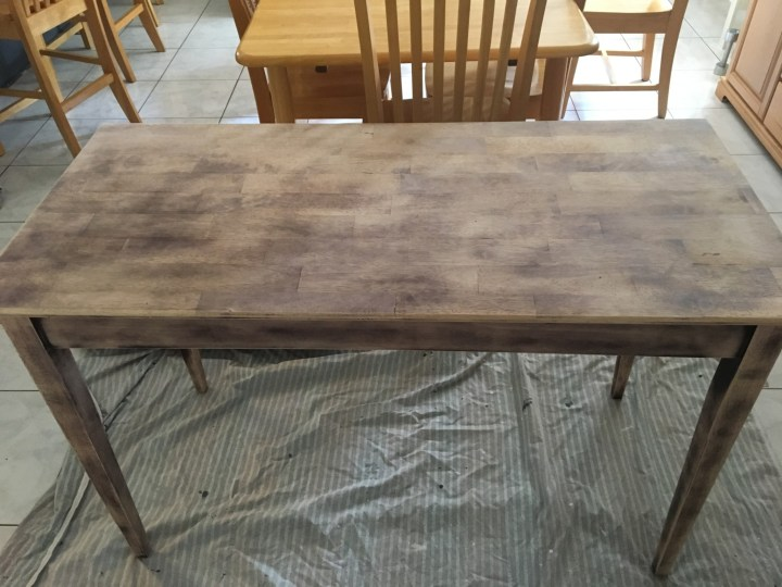 wooden desk BEFORE