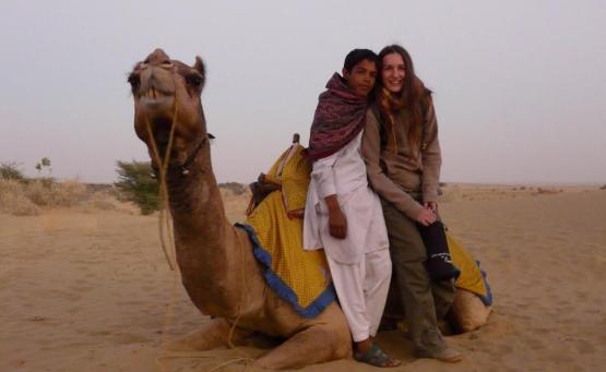 jaisalmer safari chameau desert thar