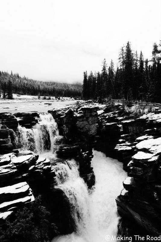 Athabasca falls quoi voir promenade de glacier