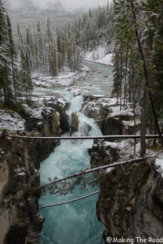 Sunwapta falls plus belles route canada