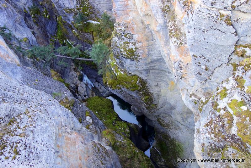 visiter canyon maligne randonnée jasper à la journée canada