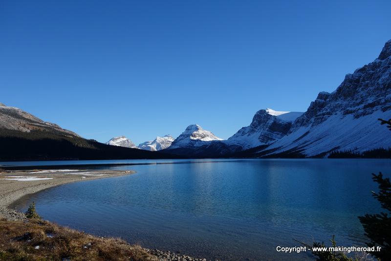 alberta lac bow randonnée pedestre dans les rocheuses canadiennes