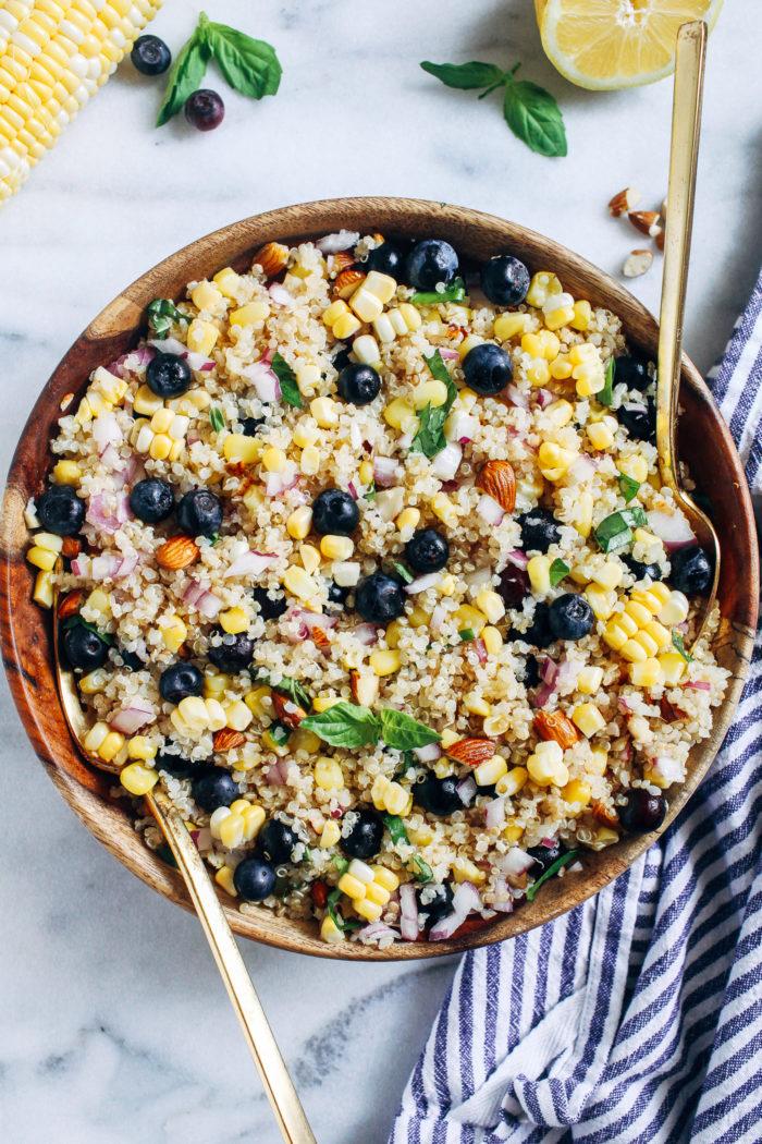 Blueberry Corn Quinoa Salad