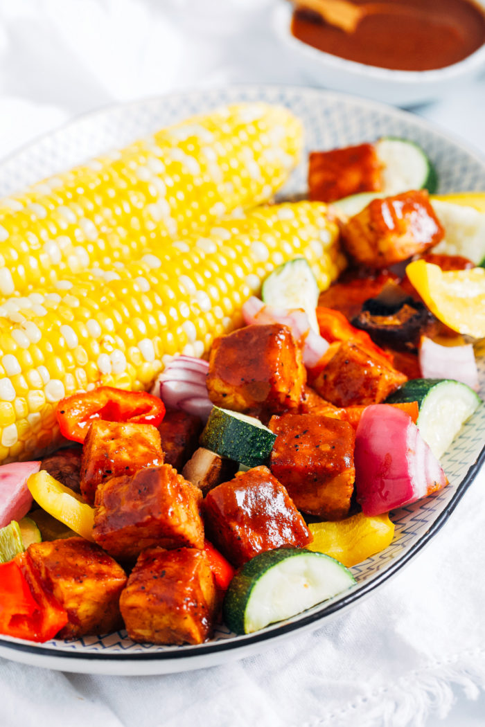 Baked Barbecue Tempeh - Making Thyme for Health