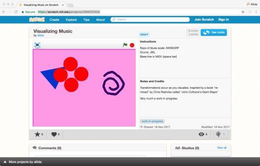 a screenshot of Scratch