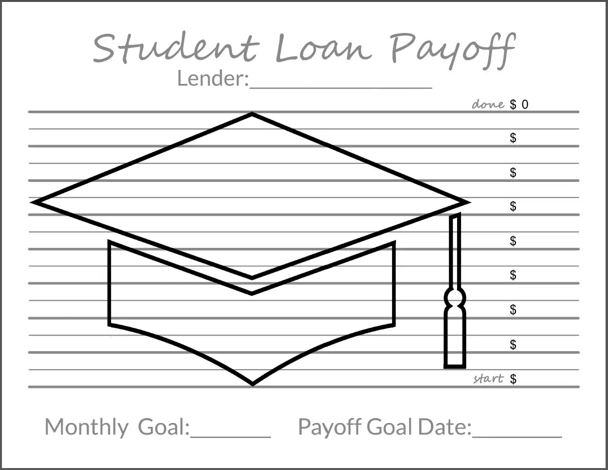 photo relating to Debt Payoff Printable called Monitoring Your Personal debt Objectives