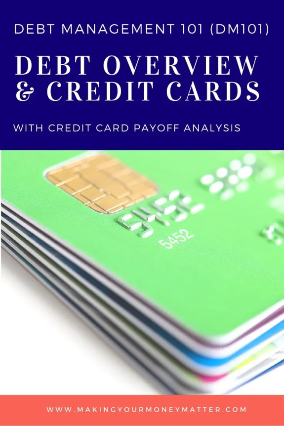Debt Overview & Credit Cards - learn to manage your debt and create a schedule to pay off your credit cards.