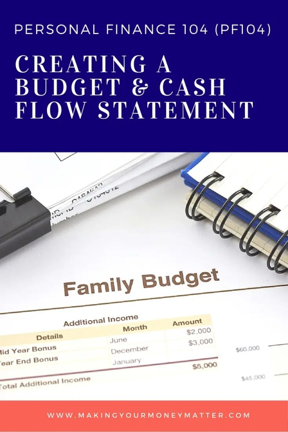 pf104 creating a budget and cash flow statements