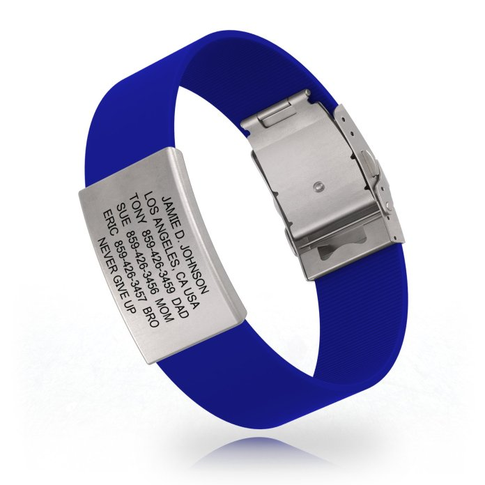 Image: ROAD id - Sports Medical Alert. The top-shelf choice in wrist-worn identification. Never go for a run or ride alone again.