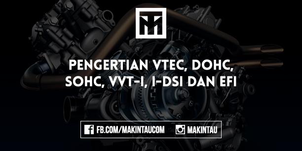 Pengertian VTEC, DOHC, SOHC, VVT-i, I-DSi dan EFI