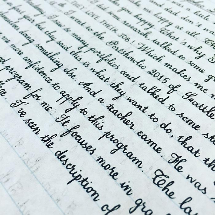 handwriting idea