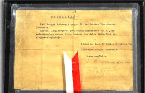 Teks proklamasi tulisan tangan Soekarno