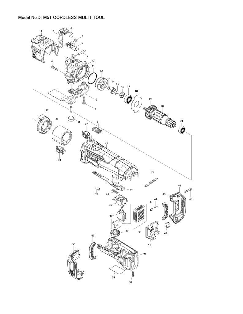 medium resolution of part diagram dtm51rfex8 z