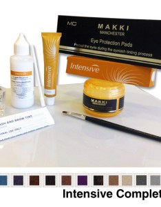 Eyelash and eyebrow complete tinting kit also intensive tint ml rh makkicosmetics