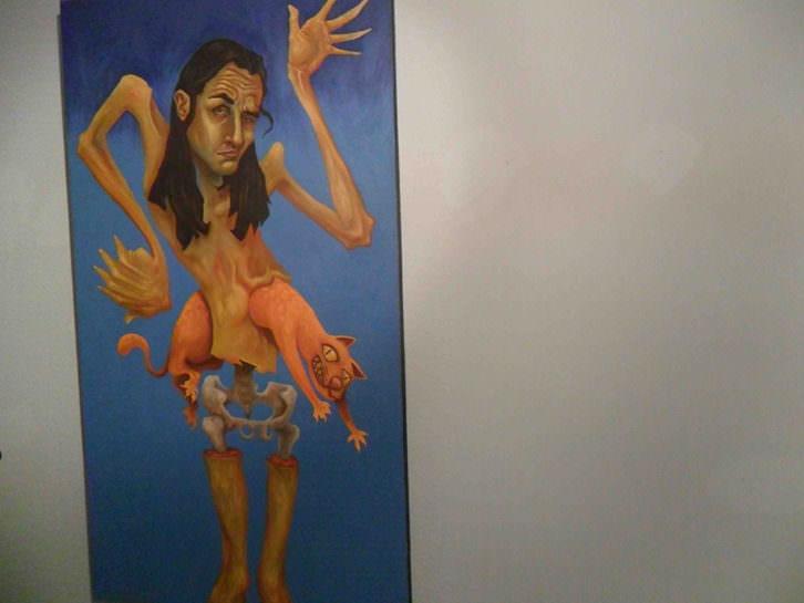 Obra de Daniel Gordillo en 'A los postres un cadáver y otras nimiedades'. Aula de Cultura La Llotgeta.