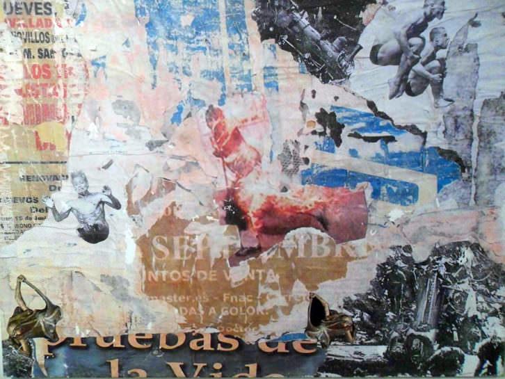 Obra de Jorge Montalvo en 'A los postres un cadáver y otras nimiedades'. La Llotgeta.