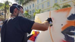 Art in Ajaccio Street Art Live painting Mako Deuza