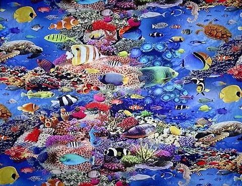Zeeleven in de Oceaan Digitaal Print