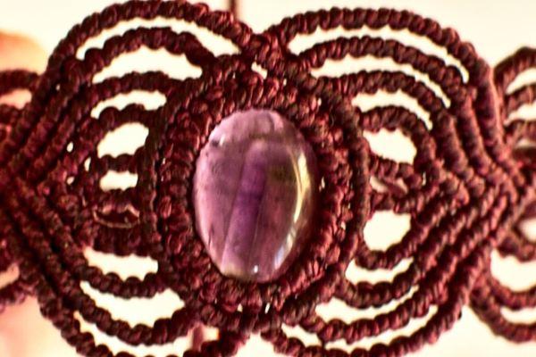 Pulseras con piedra Amatista
