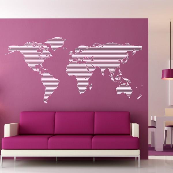 carte du monde rayee