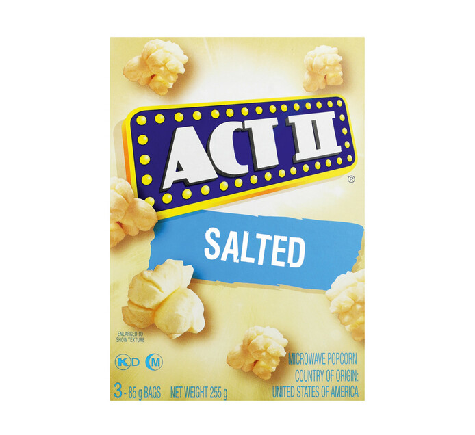 act 11 microwave popcorn salted 1 x 242g