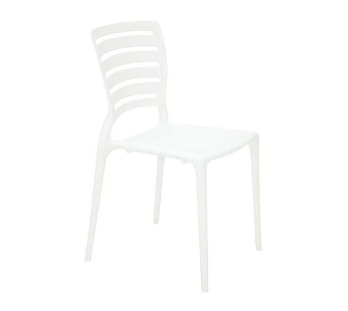 tramontina sofia white polypropylene and fiberglass horizontal slat chair