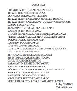 Deniz Tasi Atalay Demirci