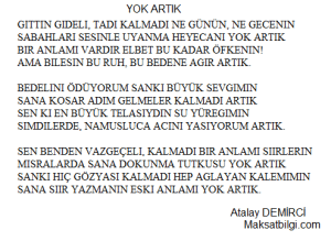 YOK ARTIK Atalay Demirci