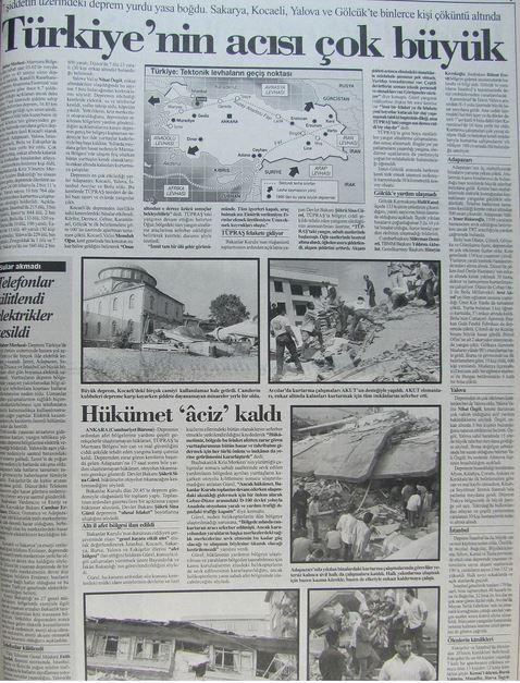 Cumhuriyet-gazetesi-18-agustos-1999-2 17 Ağustos 1999 Depreminin ertesi günü atılan manşetler