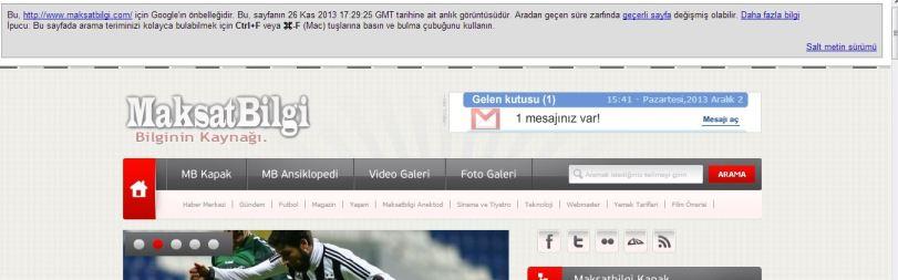 Sayfaniz en son ne zaman indexlenmis Web Siteniz En son Ne zaman İndexlenmiş!