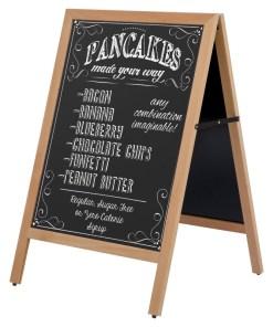 Dış Mekan Ahşap Yazılabilir A-Pano