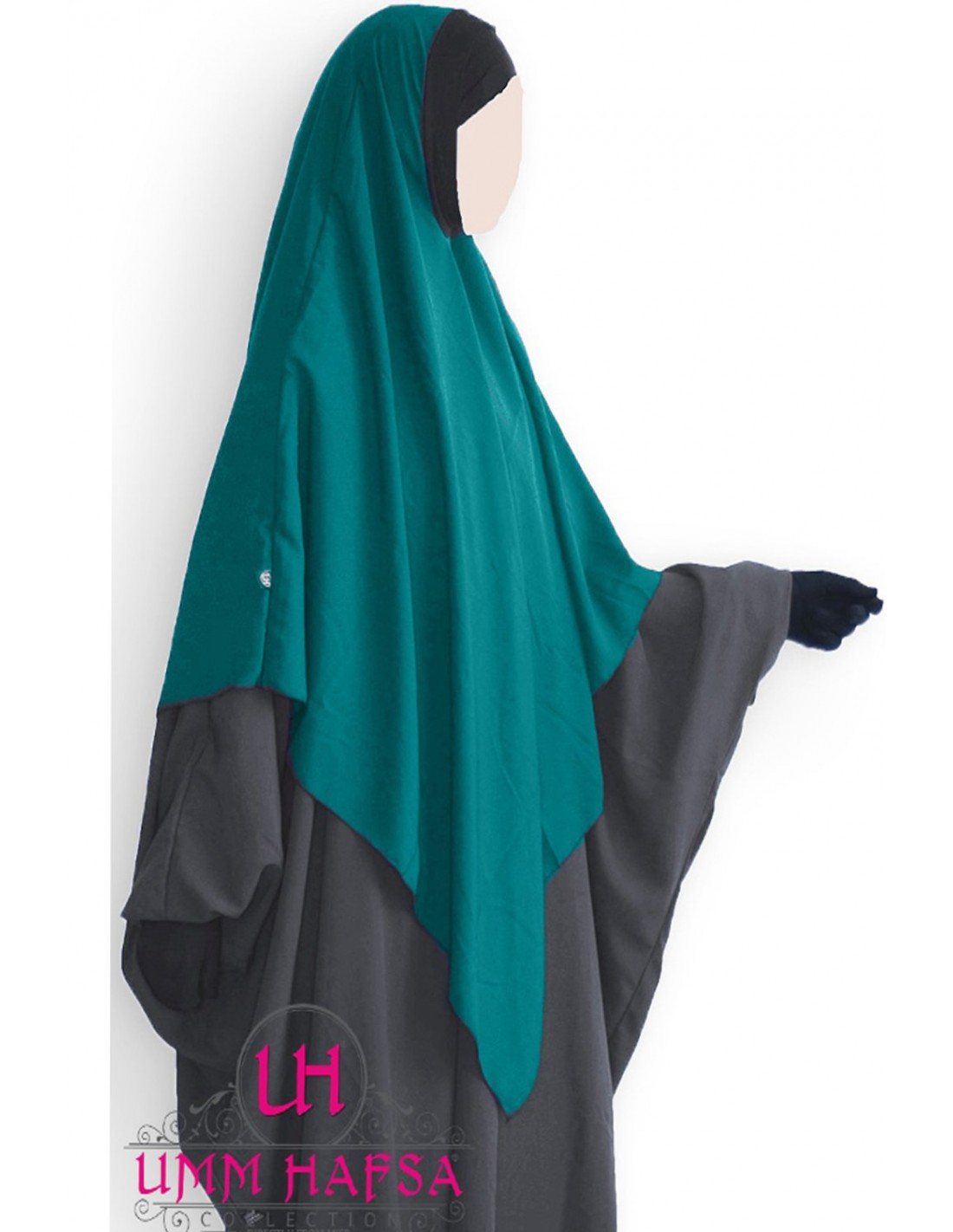 Hijab lycra green duck from Umm Hafsa Collection. extra large Khimars
