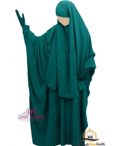 Butterfly abaya /Hijab Cape Umm Hafsa - Green Duck