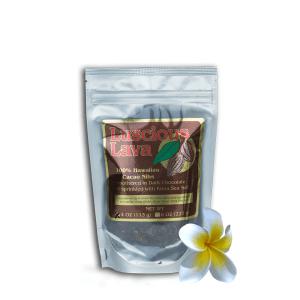 Luscious Lava Dark Chocolate Smothered Hawaiian Cacao Nibs