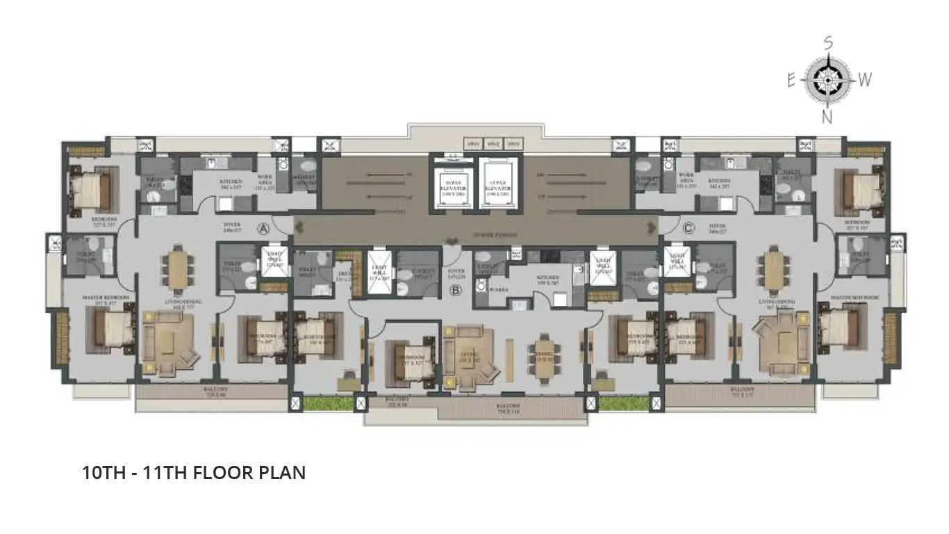 10th 11th Floor plan