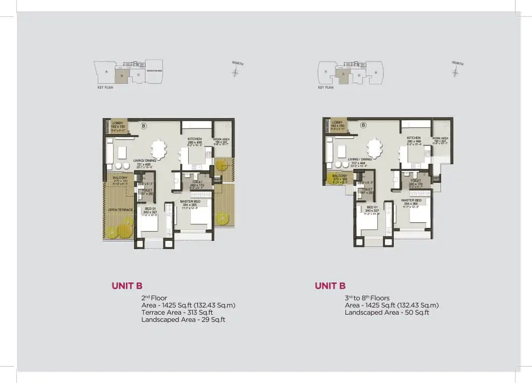 Unit B (2nd Floor), Unit B (3rd - 8th)