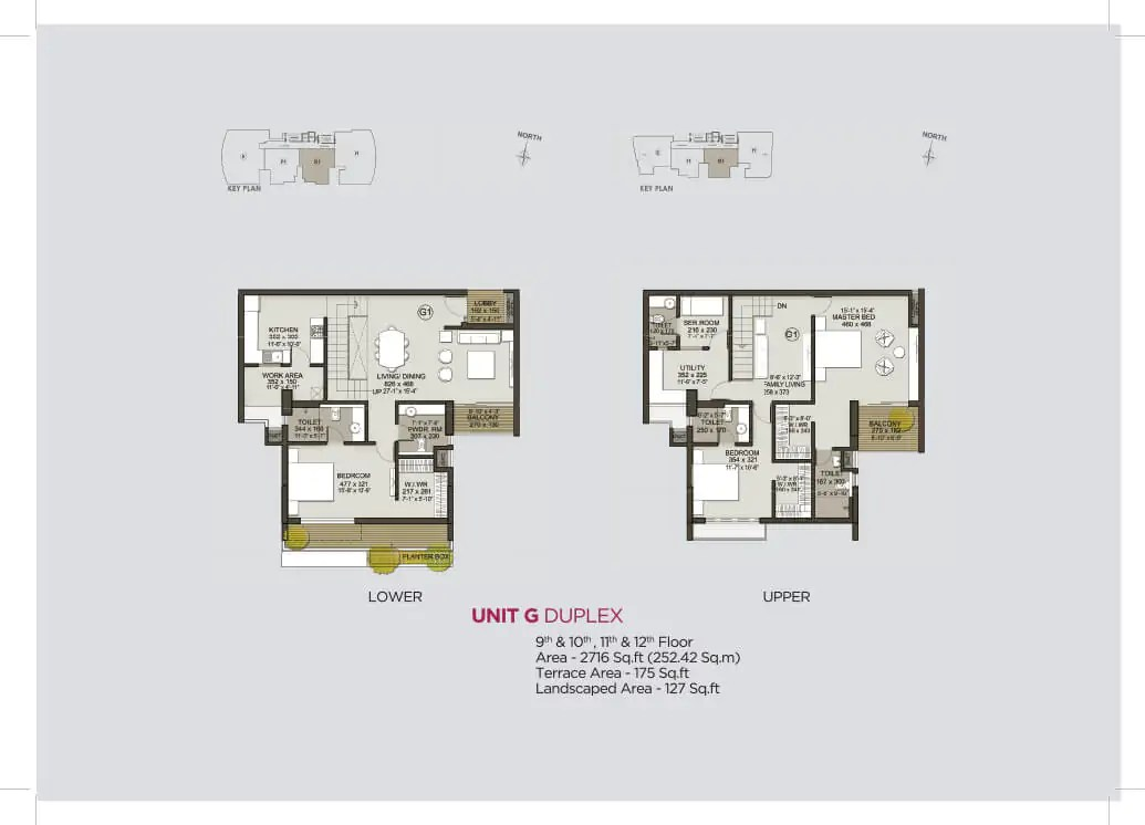 Unit G Duplex (9th to 12th)