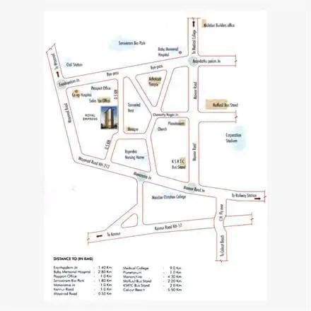 Location - Royal Empress Calicut